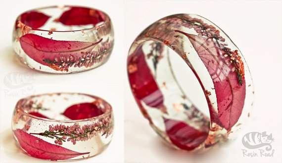 Chunky Resin Bangle. Pink. Red. Pastel Pink. Red by ResinRoad