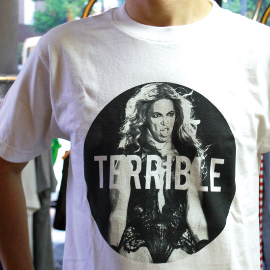 Lost city x Team Terrible Beyonce terrible face TEE / (White) - tempra cycle