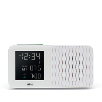 Digital Clock Radio, White