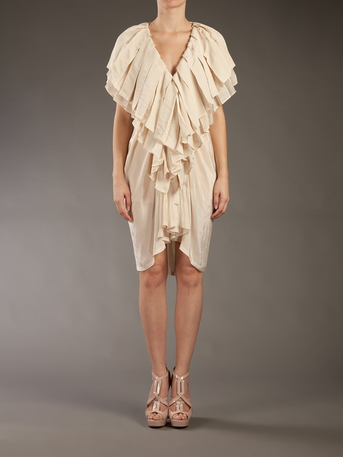 Ann Demeulemeester Pleated Ruffle Dress - Dolci Trame - farfetch.com