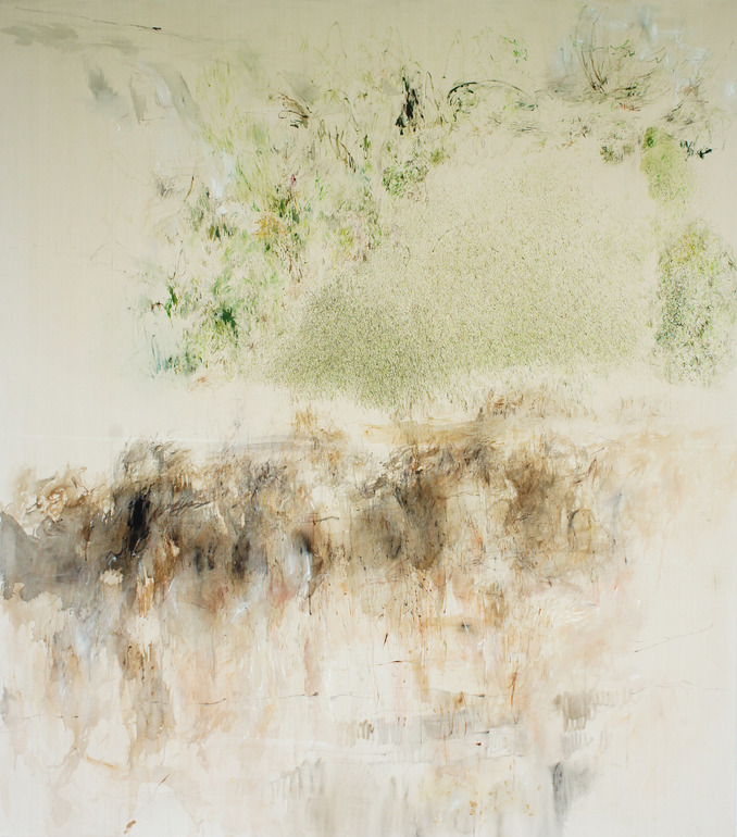 """Saatchi Online Artist: Paula Baader; Acrylic, 2013, Painting """"garden#2 (back to the roots)"""""""