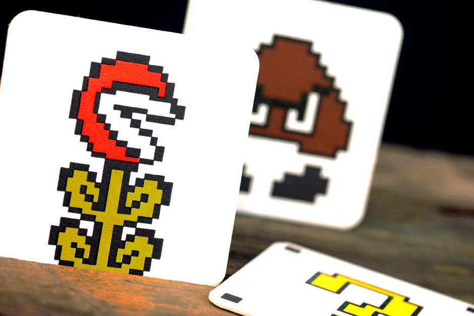 Classic Mario Bros Inspired Letterpress Paper by ruffhouseart