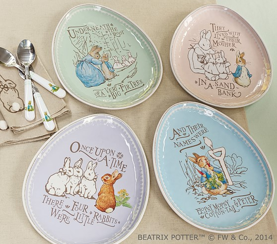 Peter Rabbit™ Easter Plate Sets | Pottery Barn Kids