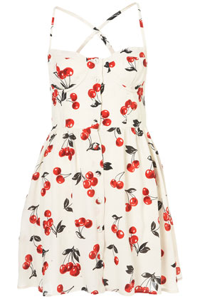 Cherry Glitter Sun Dress - Dresses - Clothing - Topshop