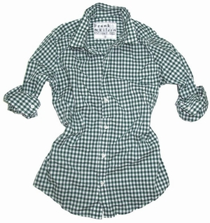 BARRY at Frank & Eileen in Green Gingham, Pink Gingham, Turquoise Mini Check, Large Navy Gingham, Orange Mini Check, White with Red Mini Grid, Purple Gingham, BLUE + WHITE STRIPE, NAVY + GREEN MINI CHECK, NAVY GINGHAM, F360791 (85), PURPLE & BLUE STRIPE