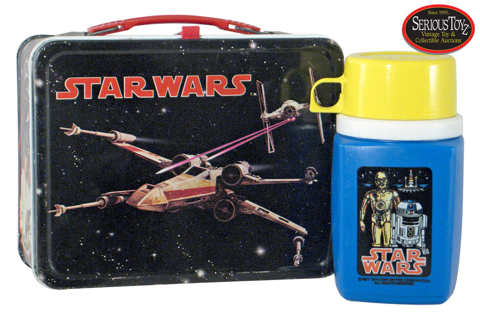 Lot Detail - 1977 Star Wars Lunch Box w/thermos