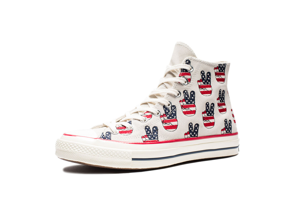 CONVERSE CTAS 70 HI - EGRET/VARSITY RED/BLUE | Undefeated