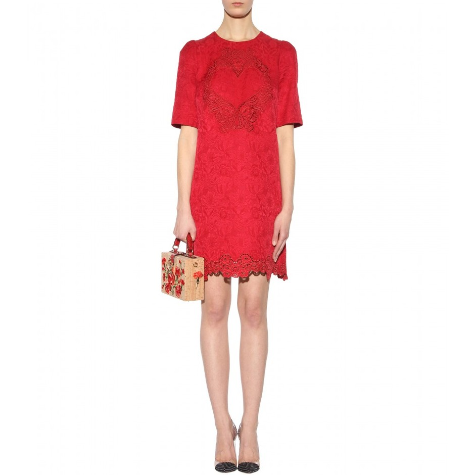 mytheresa.com - Brocade dress - Short - Dresses - Clothing - Dolce & Gabbana - Luxury Fashion for Women / Designer clothing, shoes, bags