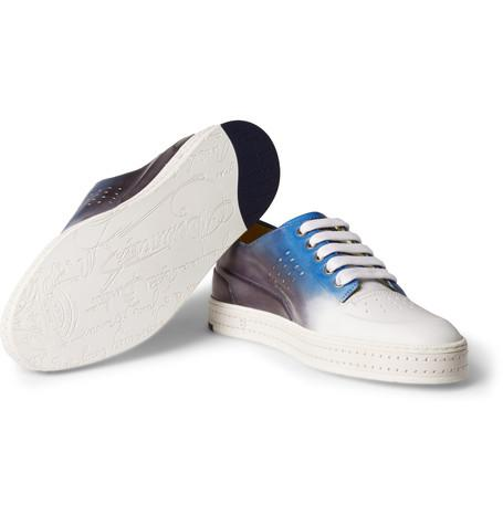 Berluti - Playtime Dégradé Polished-Leather Sneakers