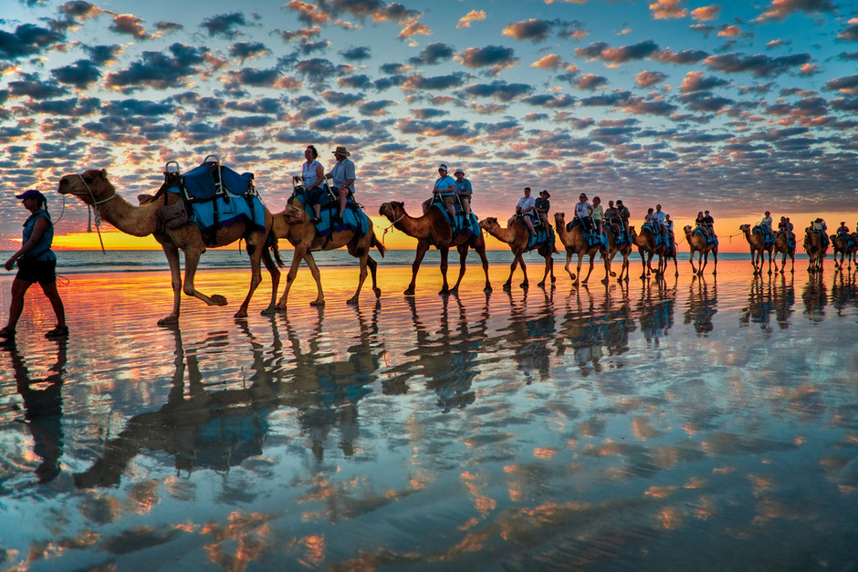 Camels at Sunset, Cable Beach W.A | Flickr - Photo Sharing!