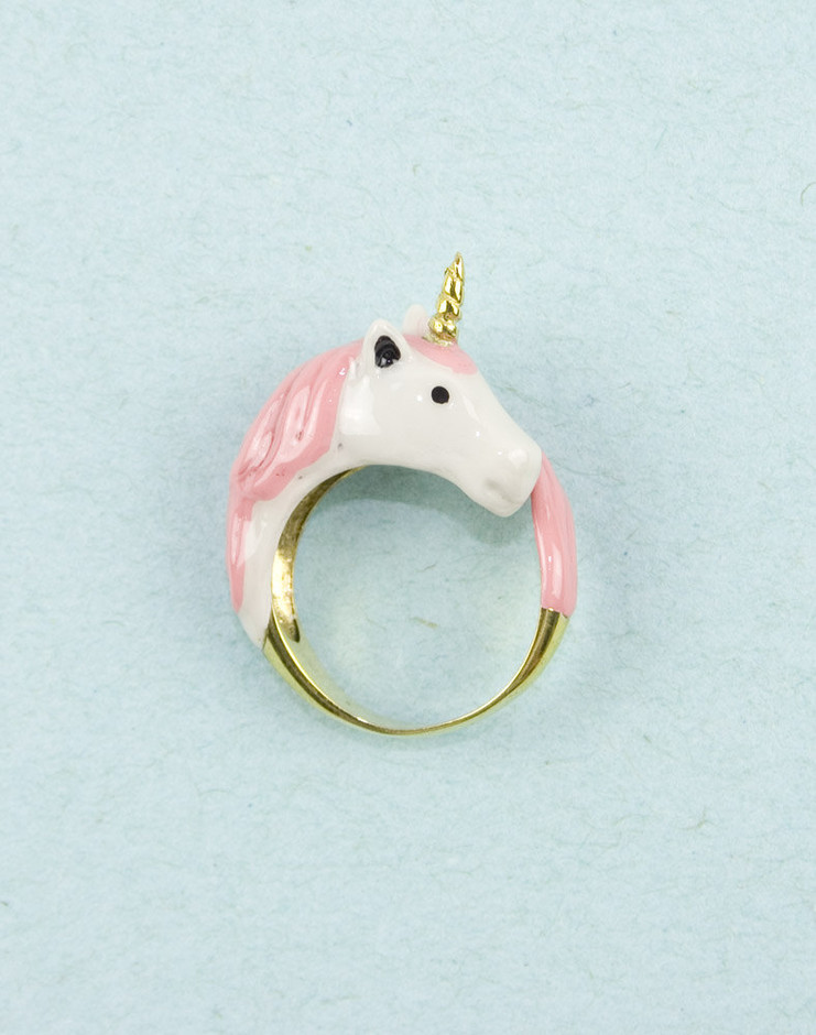 Pink Unicorn Ring by Modernaked on Etsy