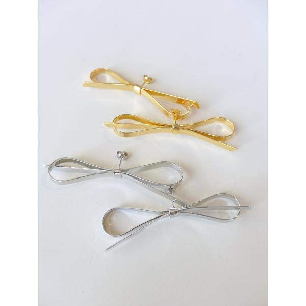 THEATREPRODUCTS TA131065 ブラスリボンピアス COL.GOLD SILVER ¥10.000+TAX - nep Onlinestore