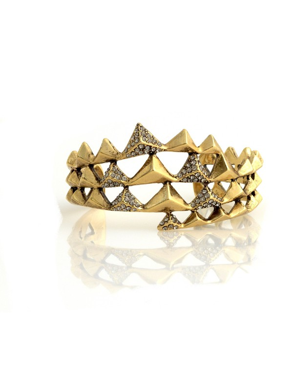 House of Harlow 1960 Pyramid Wrap Cuff, House of Harlow 1960 Wrap Cuff, House of Harlow 1960 Cuff, House of Harlow 1960 Bracelet, House of Harlow 1960 Jewelry, House of Harlow 1960 Costume Jewelry, House of Harlow 1960 Fashion Jewelry