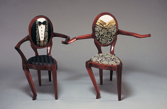 Dancing Chairs Sculpture by ThreeElementsStudios on Etsy