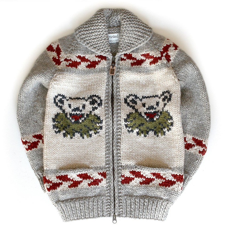 Official Grateful Dead Marching Bear Sweater – Granted Sweater Company