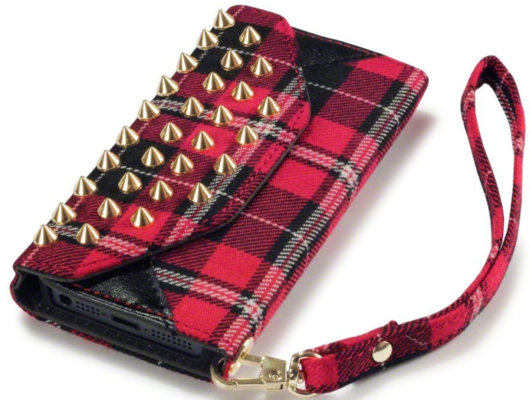 Trendy Studded Rock Chic Purse Style Wallet Case