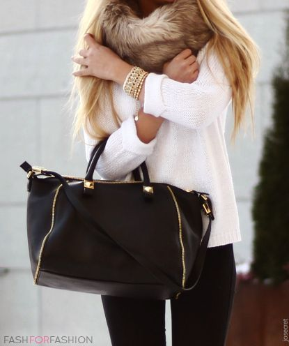 """Handbag and fur. 