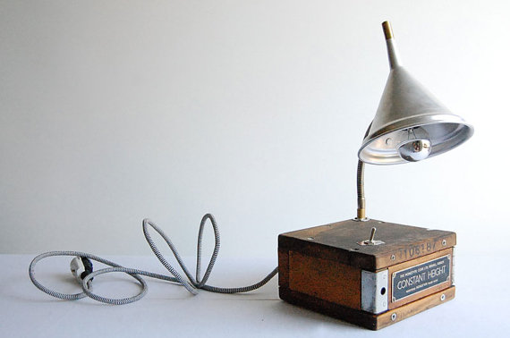 Constant Height Handcrafted industrial desk lamp by fishtail45