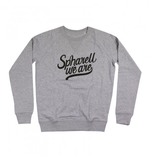 Printed gray sweater for men - Spharell - SPHARELL WE ARE | To seize at GRAFITEE