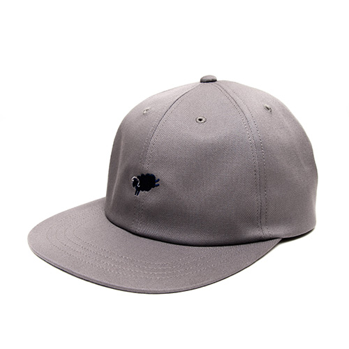 6 Panel Cap - Grey - cup and cone WEB STORE