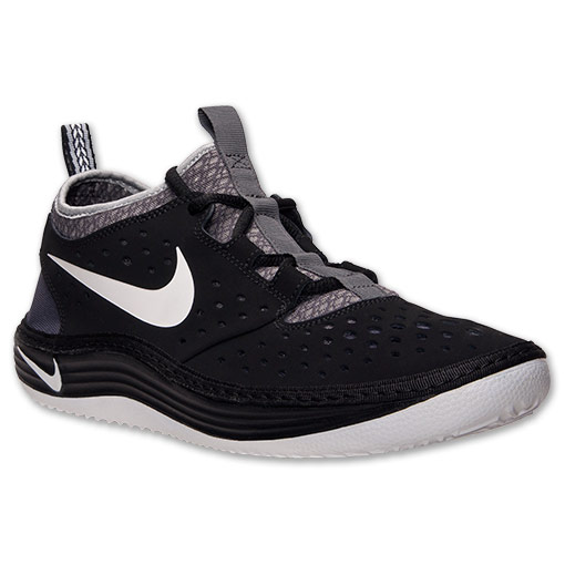 Men's Nike Solarsoft Costa Low Casual Shoes | FinishLine.com | Black/White/Iron Ore/Wolf Grey