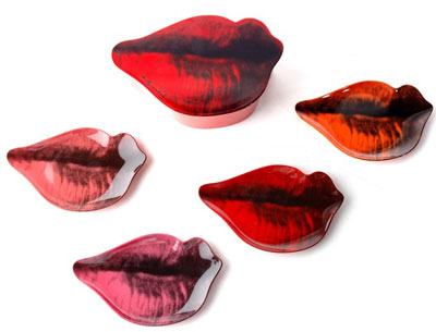 Retro To Go: Andy Warhol Lips pop art plate set