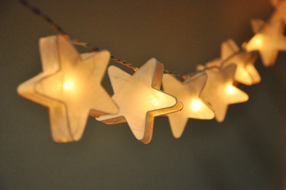 White mulberry paper Stars Lanterns for wedding party by ginew