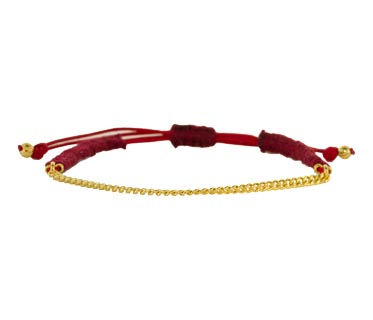 Shashi Red Cord and Gold Chain Bracelet :: TWISTonline.com