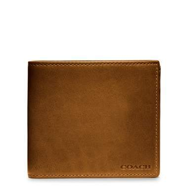Coach Bleeker Legacy Leather Coin Wallet Fawn