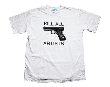 'Kill All Artists' Tee tops from Popgloss - a daily womens shopping magazine with the latest and best designed womens clothing, boots, bags, jewelry accessories and makeup
