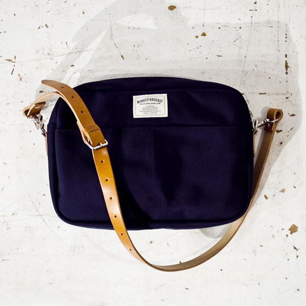 WONDER BAGGAGE(ワンダーバゲージ)GOODMANS SHOULDER M グッドマンズ・ショルダーM/NAVY ネイビー - struct / blueover WONDER BAGGAGE hola Tiny Formed