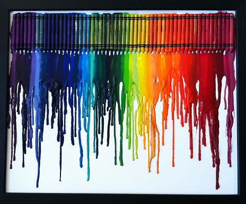 Art from melted crayons — Lost At E Minor: For creative people