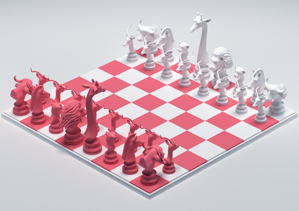 Chess Pieces on Behance