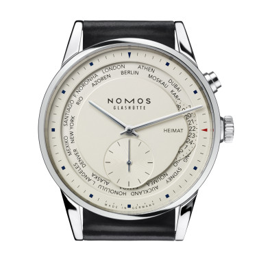 Zürich Weltzeit sapphire crystal back | Beautiful watches purchased online. Directly from NOMOS Glashutte/SA.