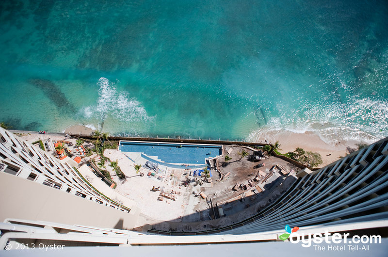 The Edge Adult Pool under construction at the Sheraton Waikiki | Oyster.com -- Hotel Reviews and Photos