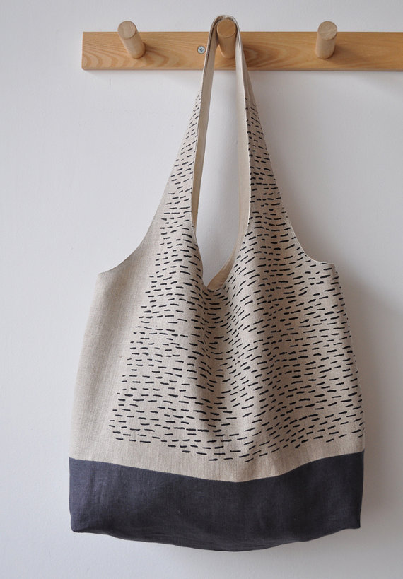 rain market tote by bookhouathome on Etsy