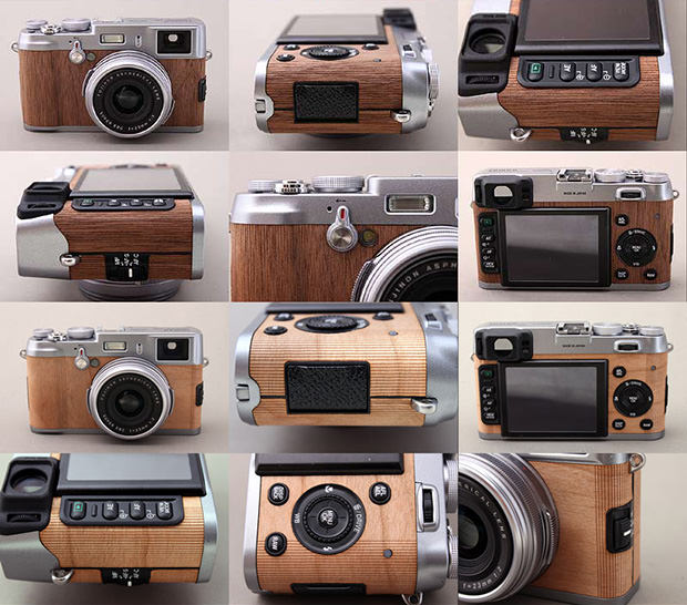 Walnut and Cherry Wood Coverings for the Fujifilm X100