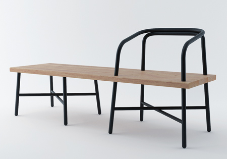 Dezeen » Blog Archive » Table, Bench, Chair by Sam Hecht