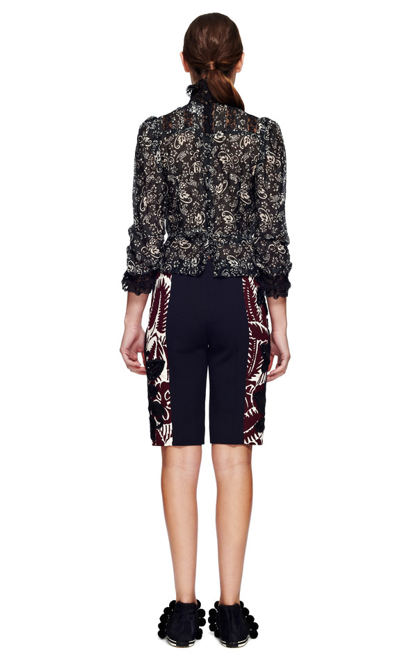 Forest Volcano Voile Victorian Blouse by Marc Jacobs for Preorder on Moda Operandi