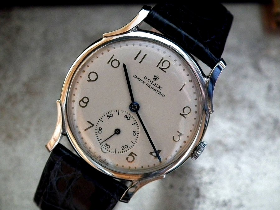 Just Beautiful 1940′s Mid-Size Rolex Precision Tear Drop Lug Ladies Vintage Watch | Sonning Vintage Watches