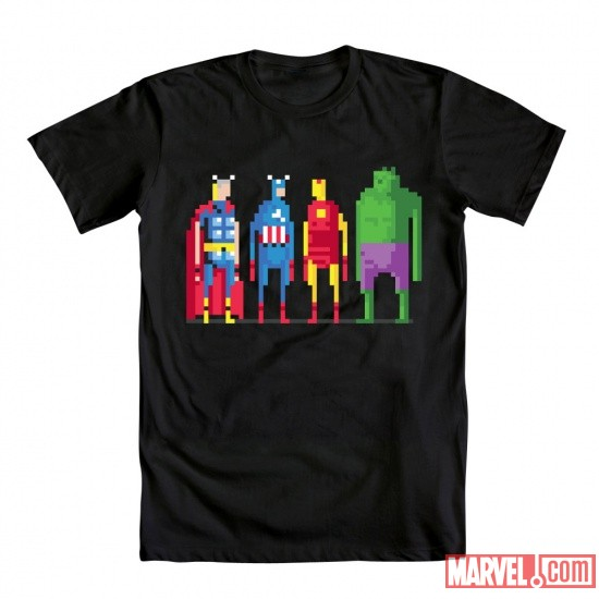 8-Bit Avengers Tee by Mighty Fine | Apps | Marvel.com