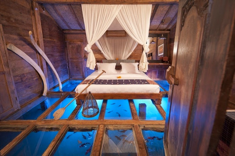 A Glass Bottomed Hotel Bedroom in Bali | Amusing Planet
