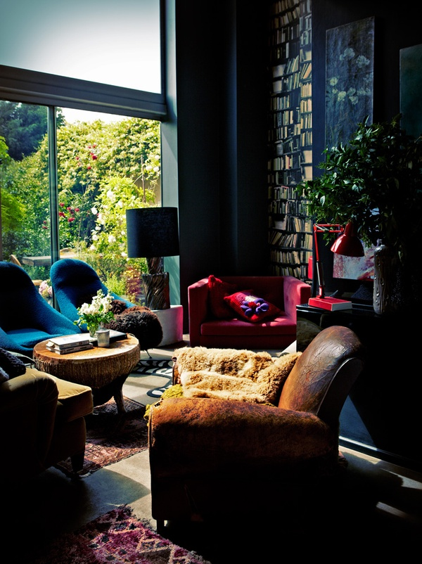 Decorating with Style / Fav spot in the whole house, the TV/reading nook