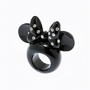<Q-pot. Sweets Accessory>MINNIE MOUSE'S EAR RING BLACK #7