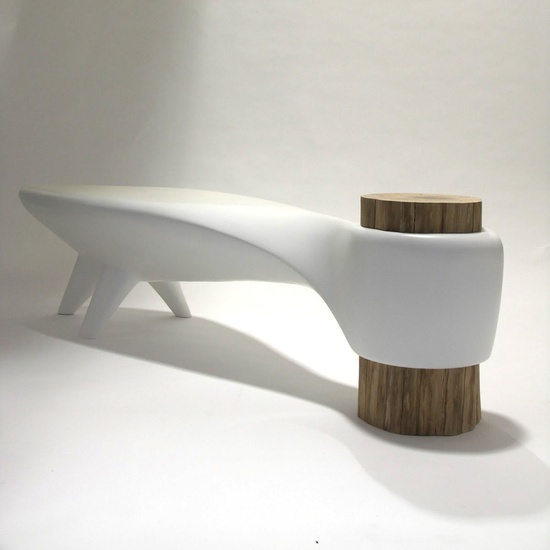 furniture and interior / Akene Bench by Ingrid Michel & Frederic Pain