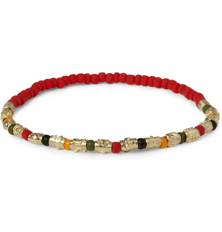 Luis Morais Gold and Glass Bead Symbol Bracelet | MR PORTER