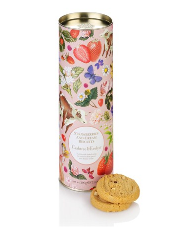 Fine Foods Strawberries and Cream Biscuits 200g | Crabtree & Evelyn