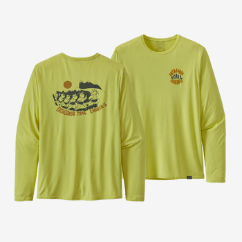 Men's Long-Sleeved Capilene® Cool Daily Graphic Shirt - Bison Stampede: Chartreuse X-Dye (BSCX)