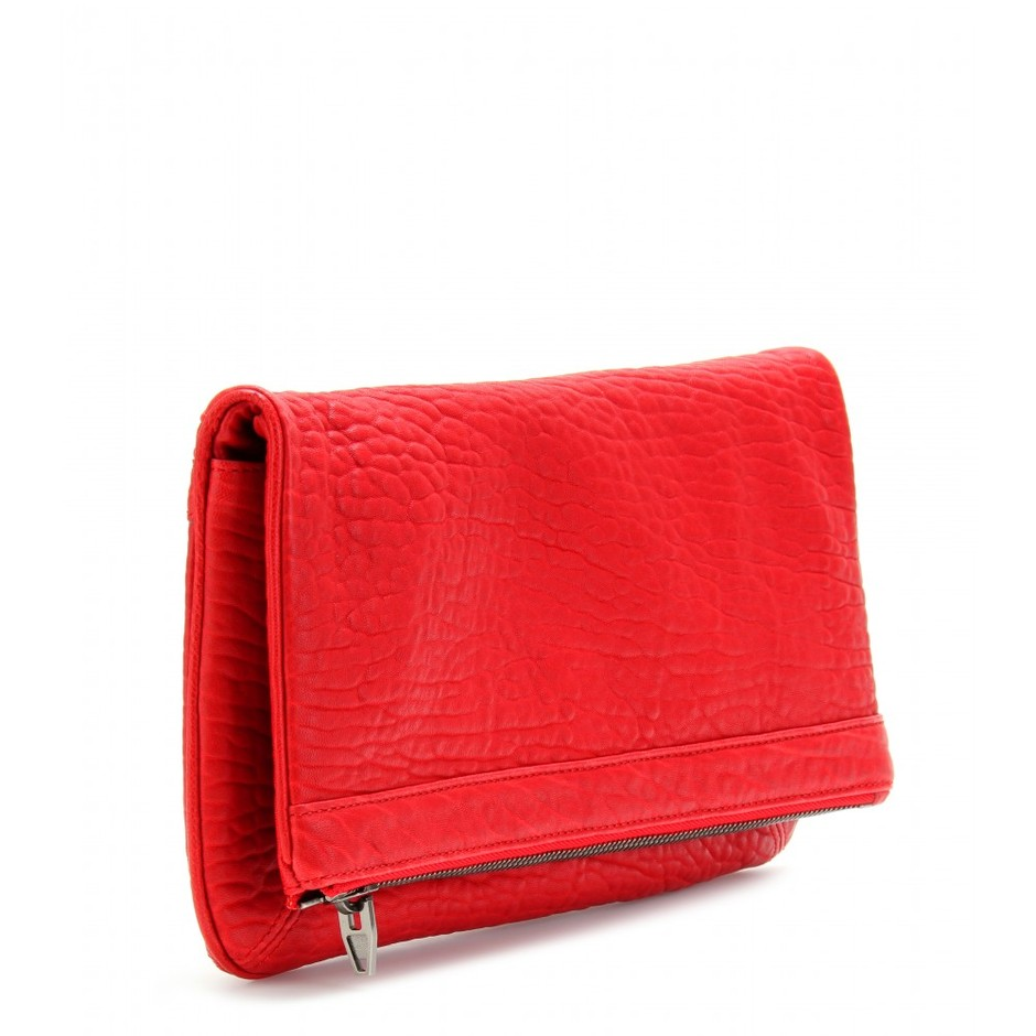 mytheresa.com - Alexander Wang - TEXTURED LEATHER CLUTCH - Luxury Fashion for Women / Designer clothing, shoes, bags