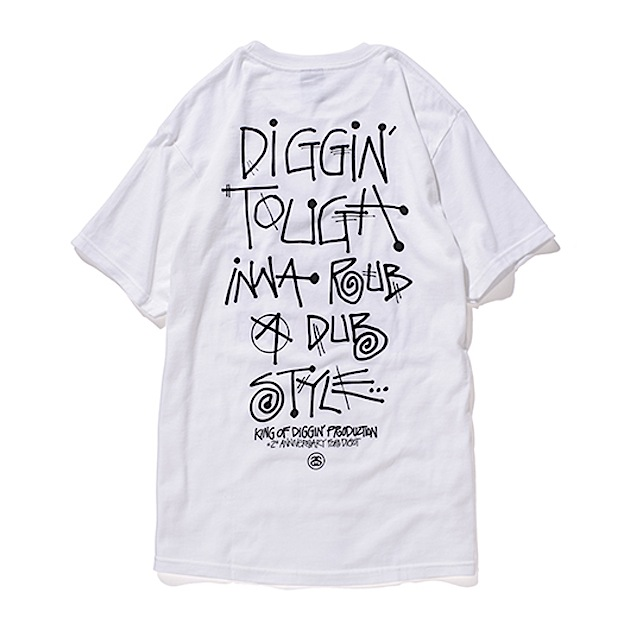 Stussy × King Of Diggin' Production : Digot 2nd Anniversary T-Shirts - EXTRA CLASSIC